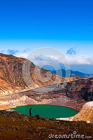 Free Volcano Crater Lake Of Mount Zao, Japan Stock Photos - 95299673