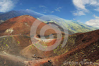 Volcano craters
