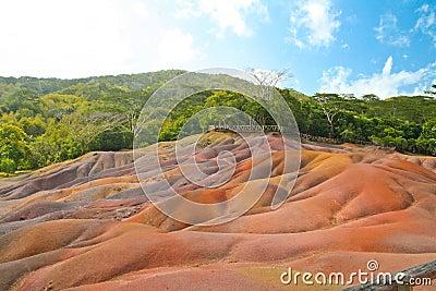 Volcano earth in Chamarel, Mauritius