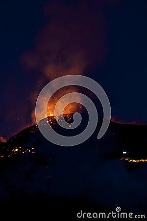 Volcano Eruption, fimmvorduhals Iceland