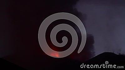Volcano Etna eruption stock footage