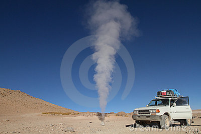 Volcano fumarolas, Bolivia. Editorial Photography