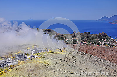 Volcano island.
