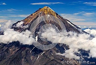volcano on the Kamchatka