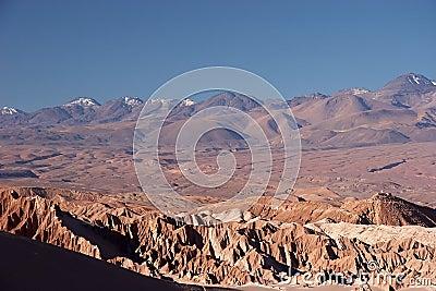 Volcano range in Atacama Desert, Chile