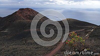 Volcano Teneguia. La Palma.Canary