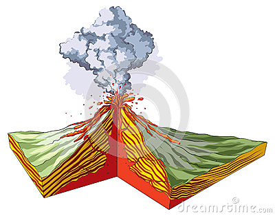 Volcano Stock Vector - Image: 53623203