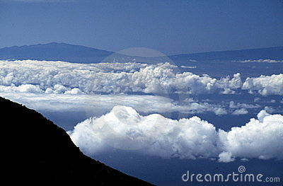 Volcanoes and clouds