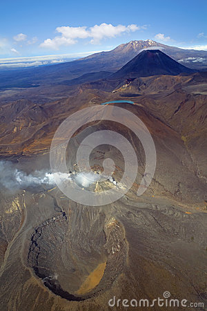 Free Volcanoes In Tongariro National Park, New Zealand Royalty Free Stock Photos - 95488178