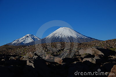 Volcanoes in Lauca National Park - Chile