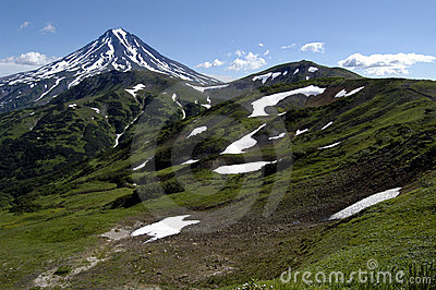 Volcanos and mountains of Kamchatka