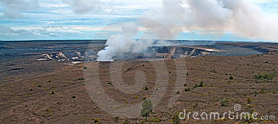 Volcán de Kilauea en la isla grande de Hawaii