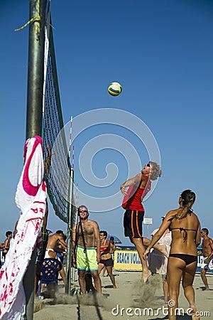 Voleibol de praia Foto Editorial
