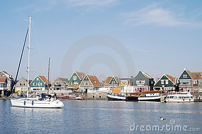 Volendam Harbour, Holland