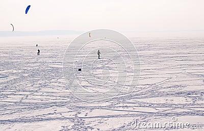 Volga River in winter, Russia