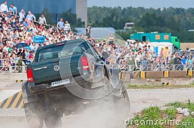 Volkodav 21596 custom pickup van Editorial Photography
