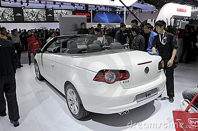 Volkswagen EOS Cabrio Editorial Stock Photo