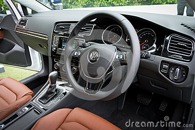 Volkswagen Golf VII 2013 Model Editorial Stock Photo