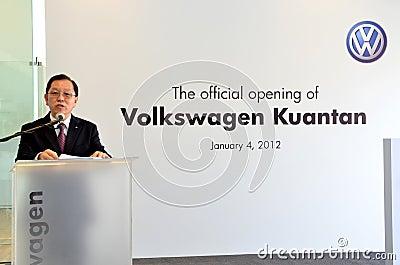 Volkswagen Kuantan, Official Opening 2012 Editorial Image