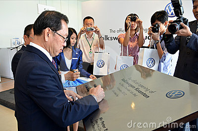 Volkswagen Kuantan, Official Opening 2012 Editorial Stock Image