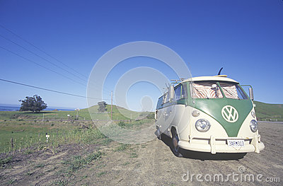 A Volkswagon van parked Editorial Photography