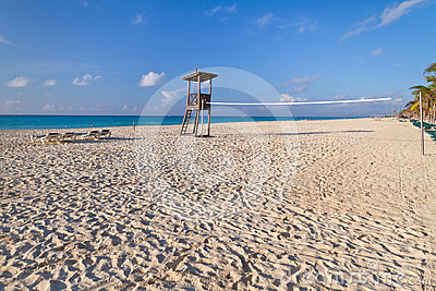 Volley ball at Caribbean Sea