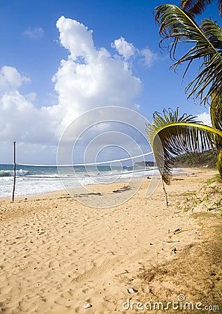 Volley ball court beach long bag corn