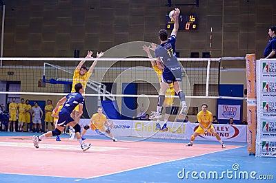 Volley Milano vs. Marcegaglia Ravenna A2 (Italian Editorial Stock Photo