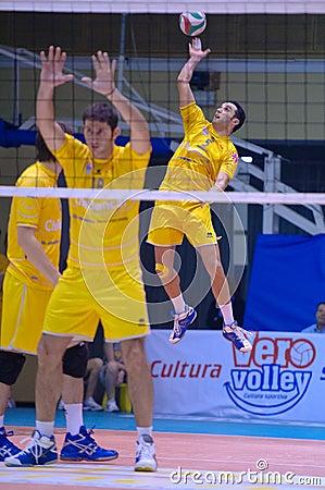 Volley Milano vs. Marcegaglia Ravenna A2 (Italian Editorial Image