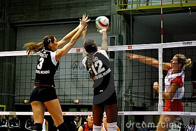 Volley - Volleyball All Star Game 2008 Editorial Stock Image