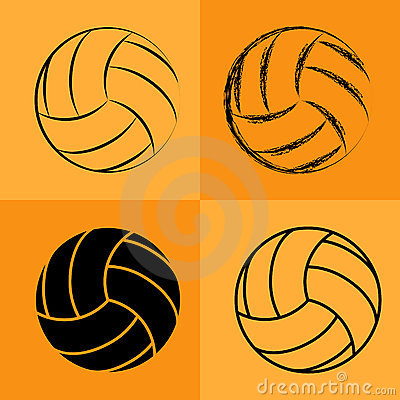 Free Volleyball Ball Set 2 Royalty Free Stock Photos - 17174898
