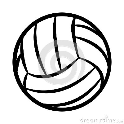 Free Volleyball Ball Silhouette Vector Illustration Isolated On White Royalty Free Stock Photos - 119929868
