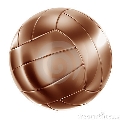 Volleyball in bronze
