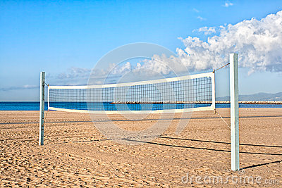 Volleyball Court At The Beach