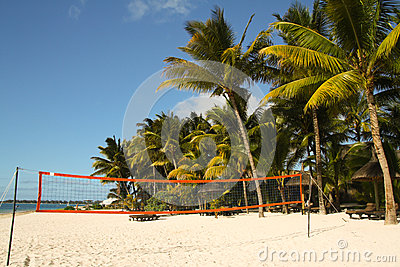 Volleyball court on the beach