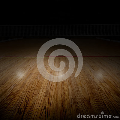 Free Volleyball Court With Special Spot Lighting And Copy Space Stock Photos - 85589033