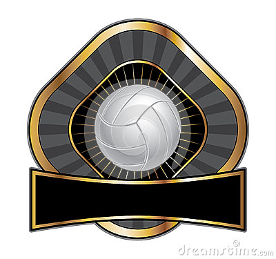 Volleyball Design Template Diamond