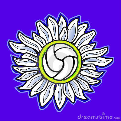 Volleyball flower vector image