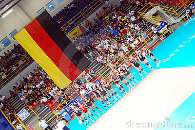 Volleyball: The German Team Editorial Photography