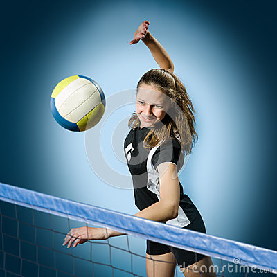 Free Volleyball Girl Royalty Free Stock Photo - 25974035