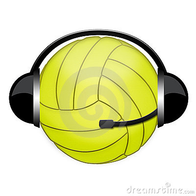 Volleyball headphone sign