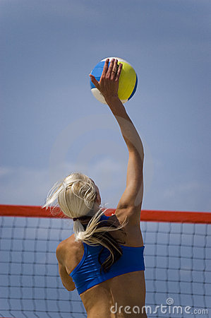 Free Volleyball In Beach Royalty Free Stock Photo - 2914915