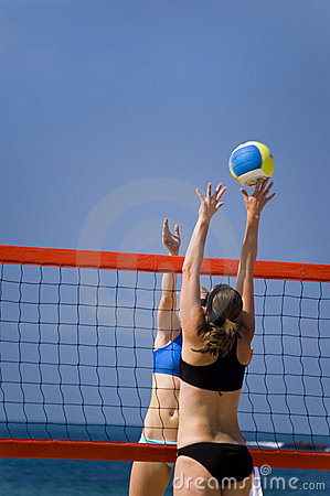 Free Volleyball In Beach Stock Photography - 2914982