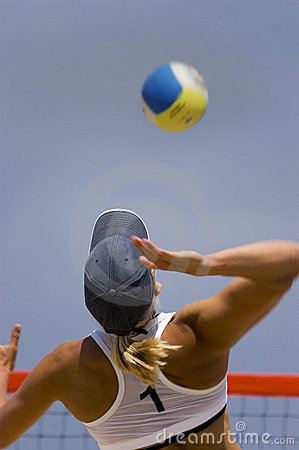 Free Volleyball In Beach Stock Photography - 2915112