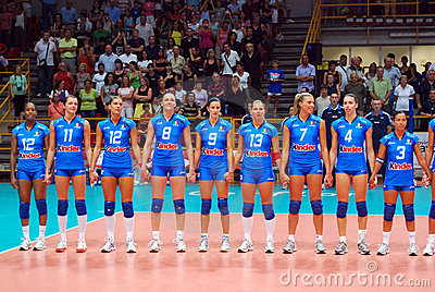 Volleyball: The Italian Team Editorial Image
