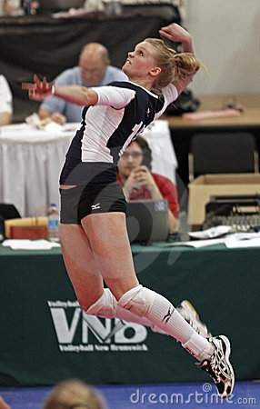 Volleyball jump hit Editorial Stock Photo