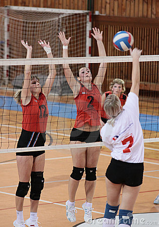 VOLLEYBALL MATCH Editorial Stock Photo