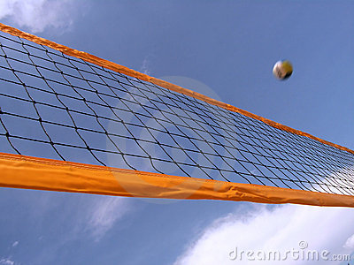 Volleyball net and sky