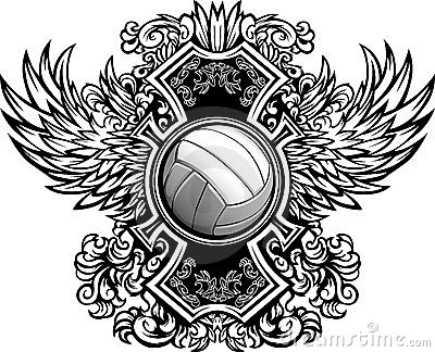 Volleyball Ornate Graphic Template