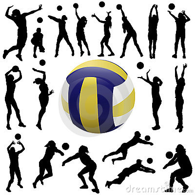 Free Volleyball Player Set Stock Photography - 7298802